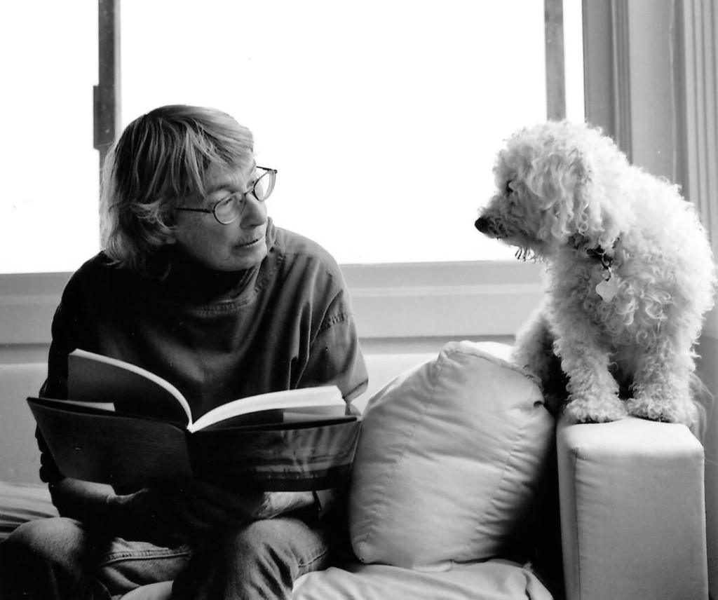 Mary Oliver in solitude with her beloved dog. (Rachel Giese Brown)